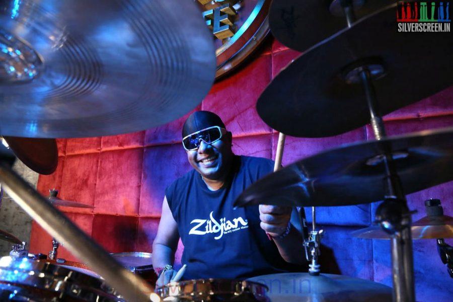 Music Director Drums Sivamani in Arima Nambi Movie Working Stills