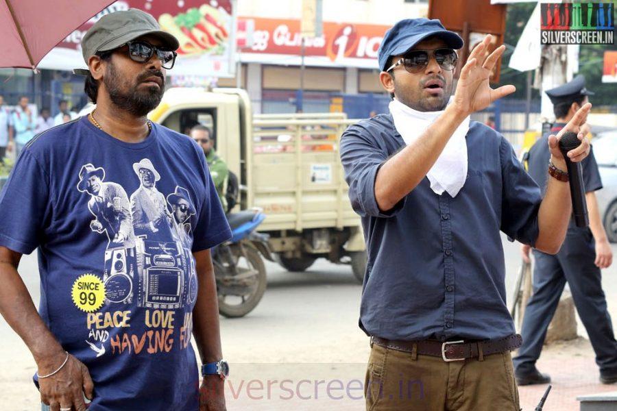 Director Anand Shankar and Cinematographer R D Rajasekhar in Arima Nambi Movie Working Stills
