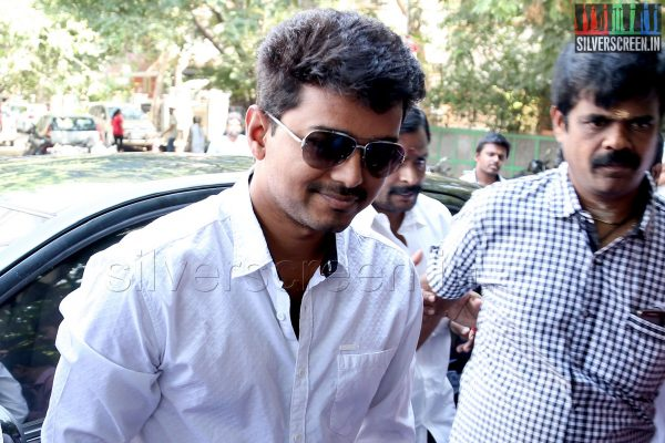 Actor Vijay votes in Lok Sabha Elections 2014