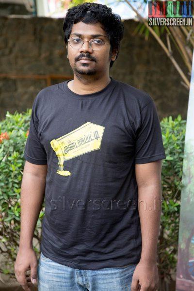 Music Director Sean Roldan at the Mundasupatti Press Meet