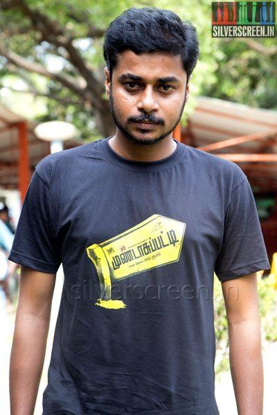 Cinematographer PV Shankar at the Mundasupatti Press Meet