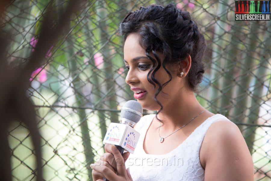 Actress Nandita at the Mundaasupatti Press Meet