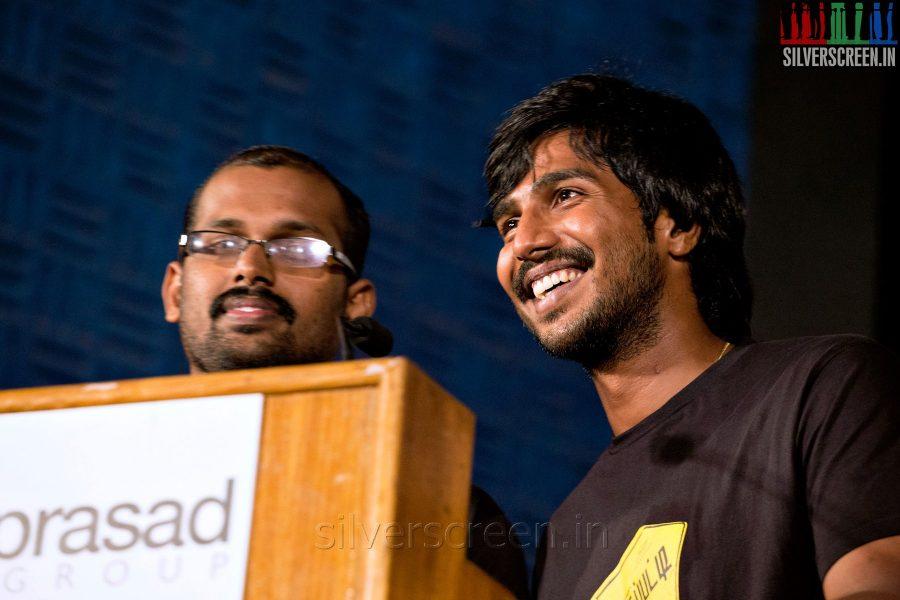 Director Ramkumar and Actor Vishnu Vishal at the Mundasupatti Press Meet