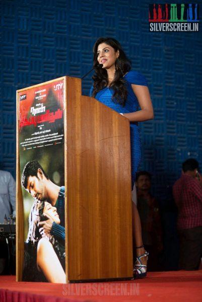 Naan Sigappu Manithan Press Meet with Vishal, Lakshmi Menon and Iniya