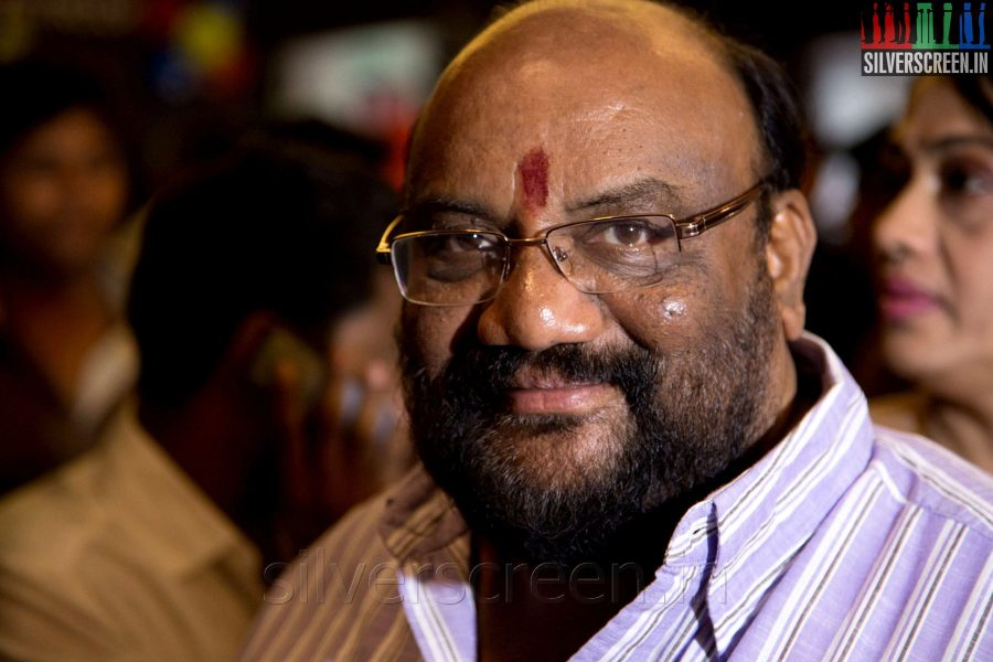 Actor Santhana Bharathi at the Sathuranga Vettai Audio Launch