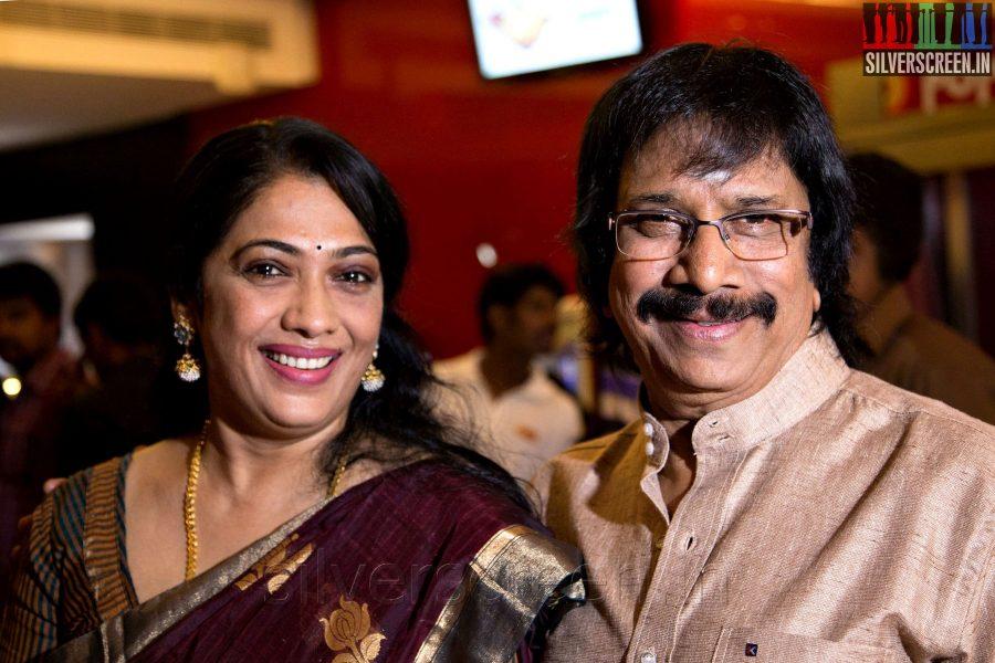 Actress Rekha and Chithra Lakhamanan at the Sathuranga Vettai Audio Launch
