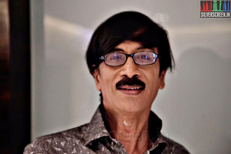 Actor Manobala at the Sathuranga Vettai Audio Launch
