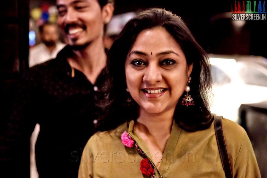 Actress Rohini at the Sathuranga Vettai Audio Launch