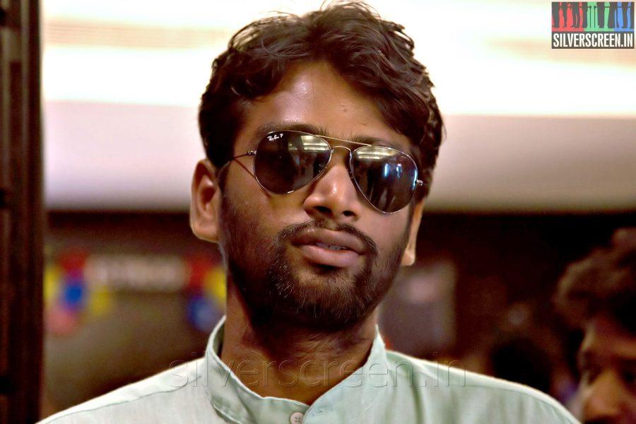 Director H Vinoth at the Sathuranga Vettai Audio Launch