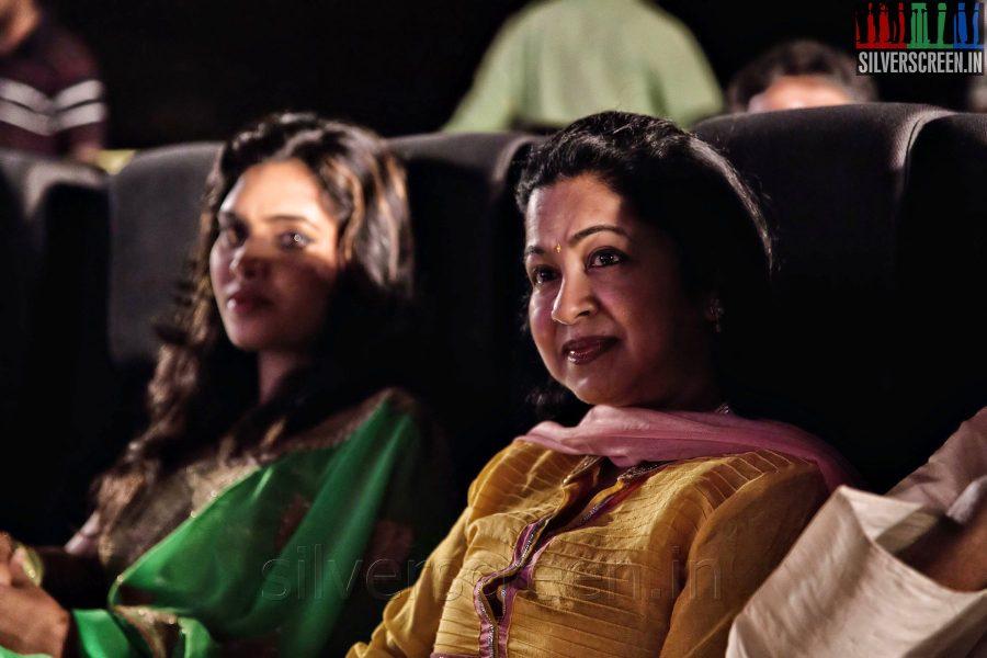 Actress Radhika and Ishara at the Sathuranga Vettai Audio Launch