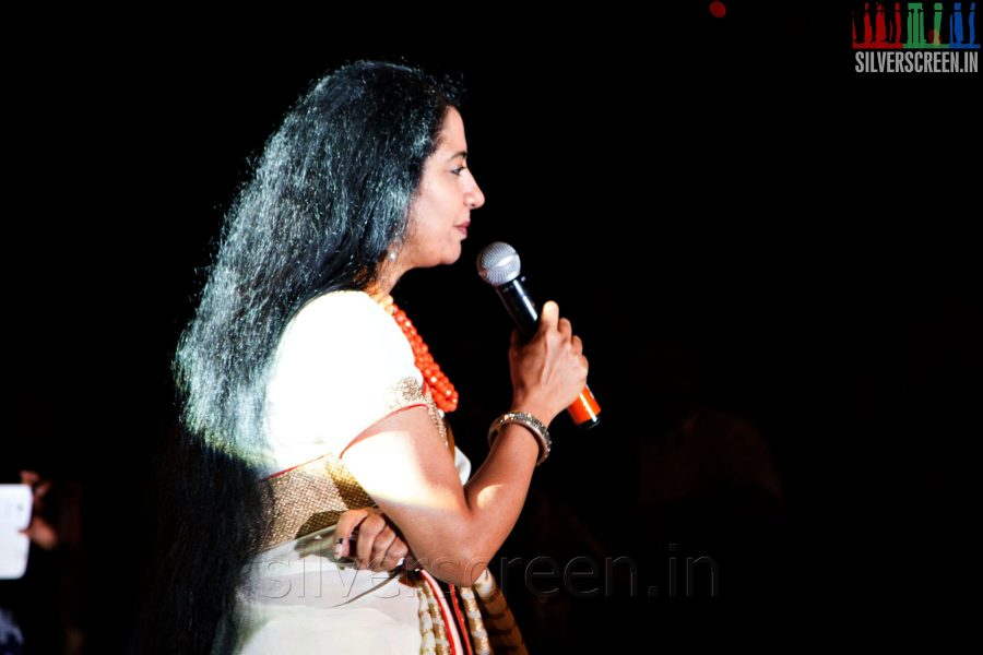 Actress Suhasini Mani Ratnam at the Sathuranga Vettai Audio Launch
