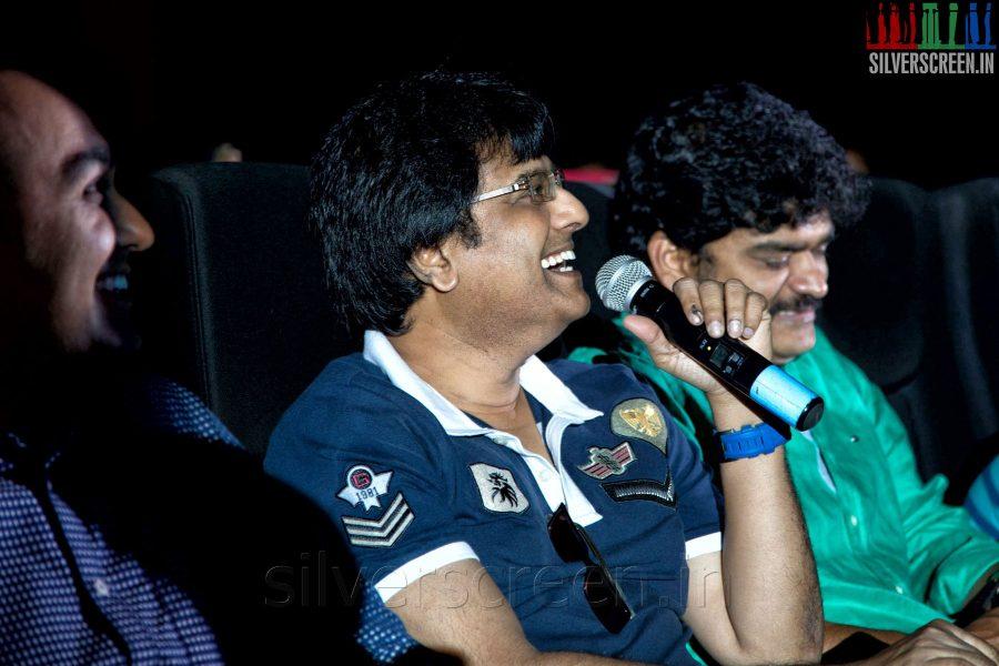 Comedian Vivek at the Sathuranga Vettai Audio Launch
