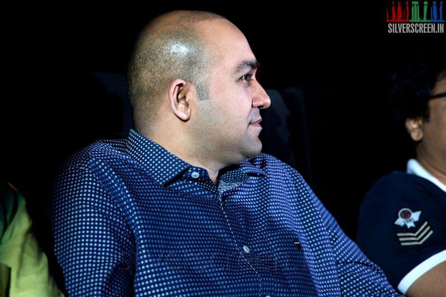 Producer Sanjay at the Sathuranga Vettai Audio Launch