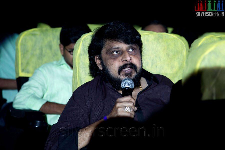 Director Vikraman at the Sathuranga Vettai Audio Launch