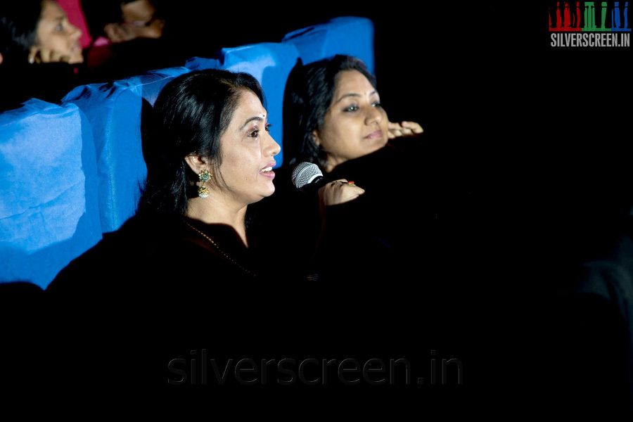 Actress Rekha and Rohini at the Sathuranga Vettai Audio Launch