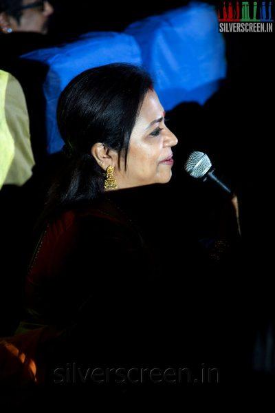 Actress Poornima Jayaram at the Sathuranga Vettai Audio Launch