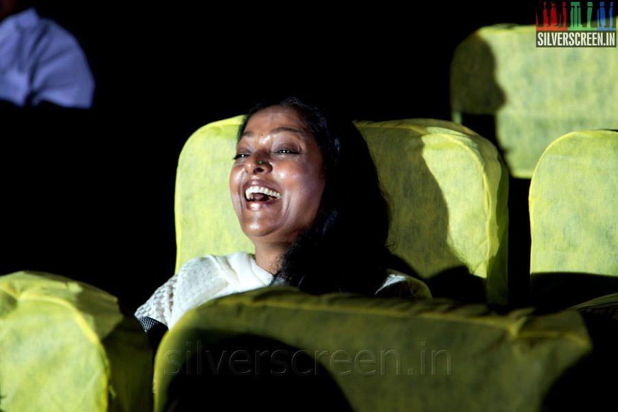 Actress Aruna at the Sathuranga Vettai Audio Launch