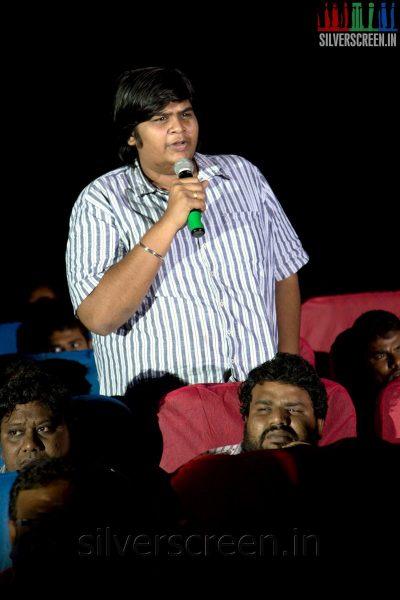 Director Karthik Subbaraj at the Sathuranga Vettai Audio Launch