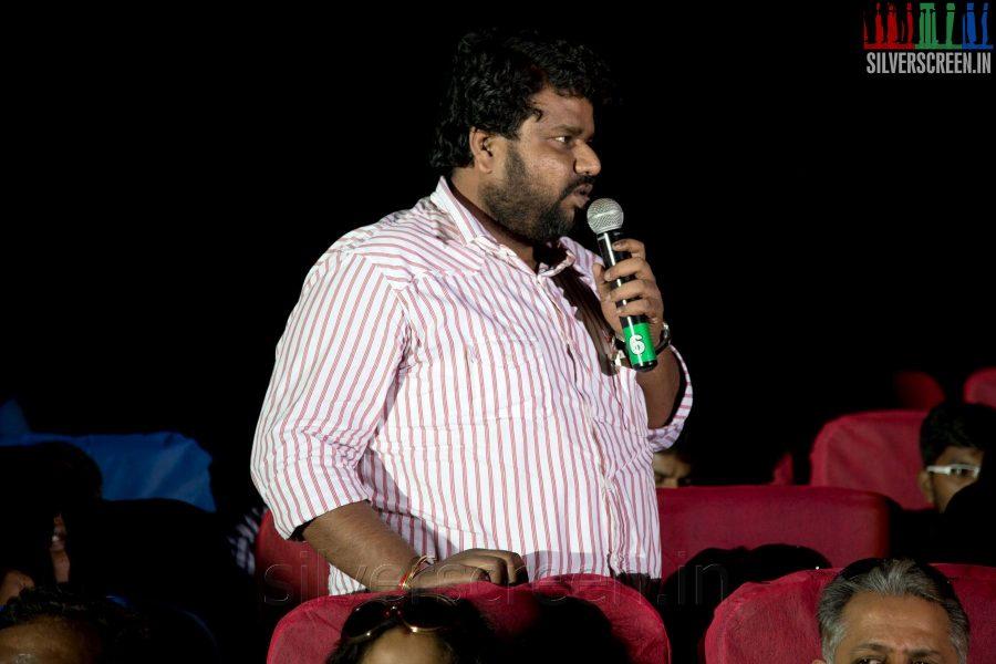 Director Nalan Kumarasamy at the Sathuranga Vettai Audio Launch