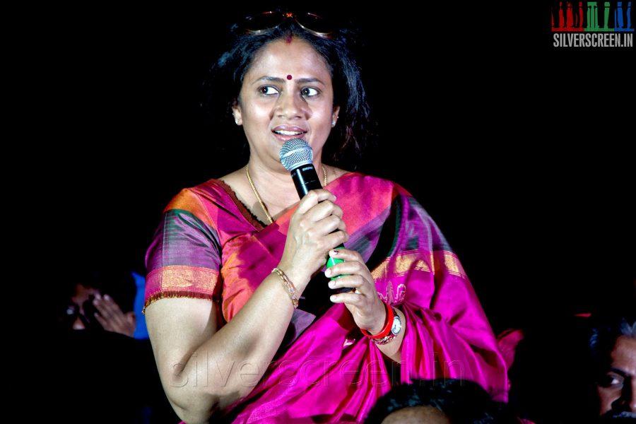 Actress Lakshmy Ramakrishnan at the Sathuranga Vettai Audio Launch