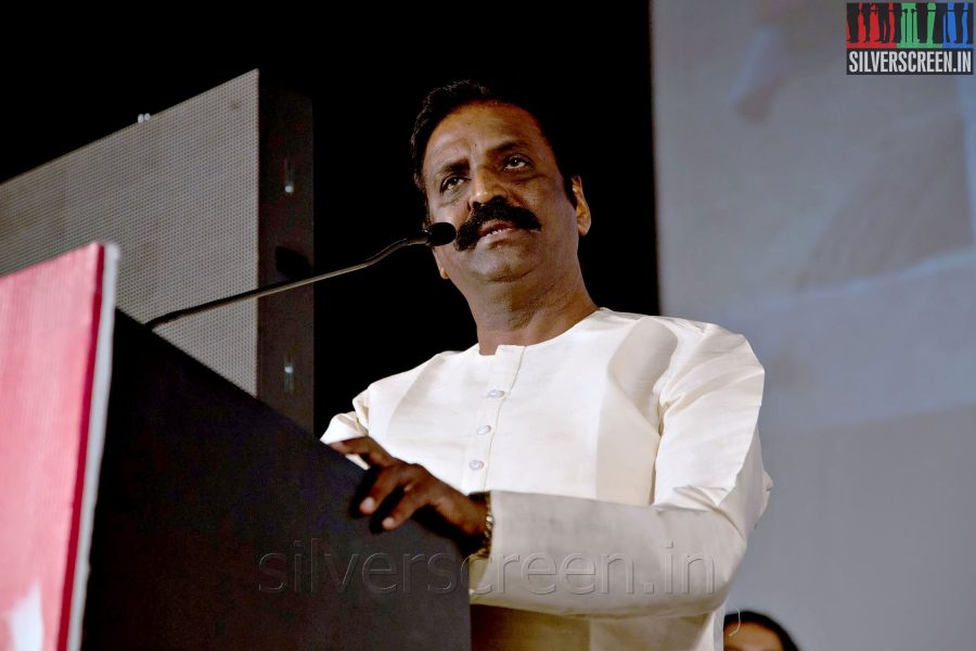 Lyricist Vairamuthu at the Sathuranga Vettai Audio Launch