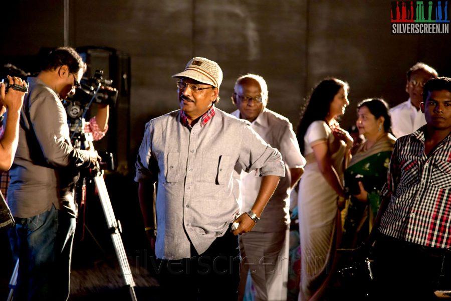 Actor Director K Bhagyaraj at the Sathuranga Vettai Audio Launch