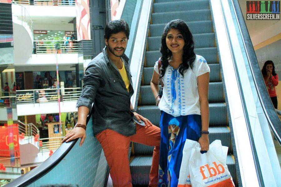 Samyuktha Hornad and Tejas in Un Samayal Arayil Movie Stills