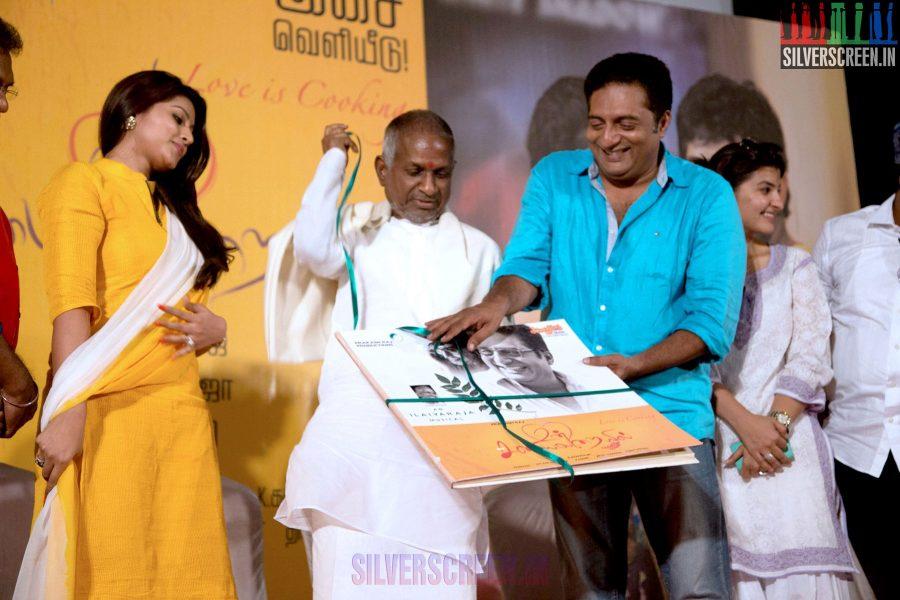 Un Samayal Arayil Press Meet with Prakash Raj, Sneha and Ilaiyaraaja