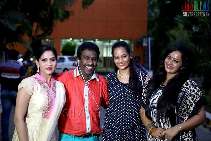 PRO Nikil Murugan, Actress Anusha VI Anand , Swasika and Suja Varunee at the Appuchi Gramam Press Meet