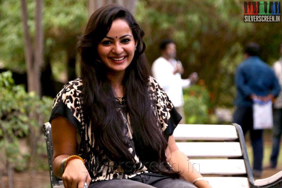 Actress Anusha at the Appuchi Gramam Press Meet
