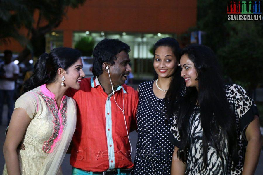 Actress Anusha, PRO Nikil Murugan, Suja Varunee and Swasika at the Appuchi Gramam Press Meet