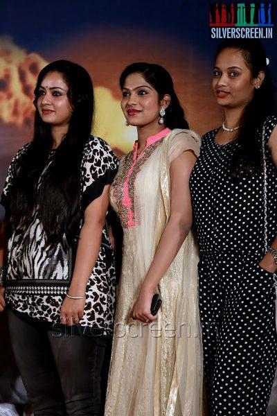 Actress Anusha, Suja Varunee and Swasika at the Appuchi Gramam Press Meet