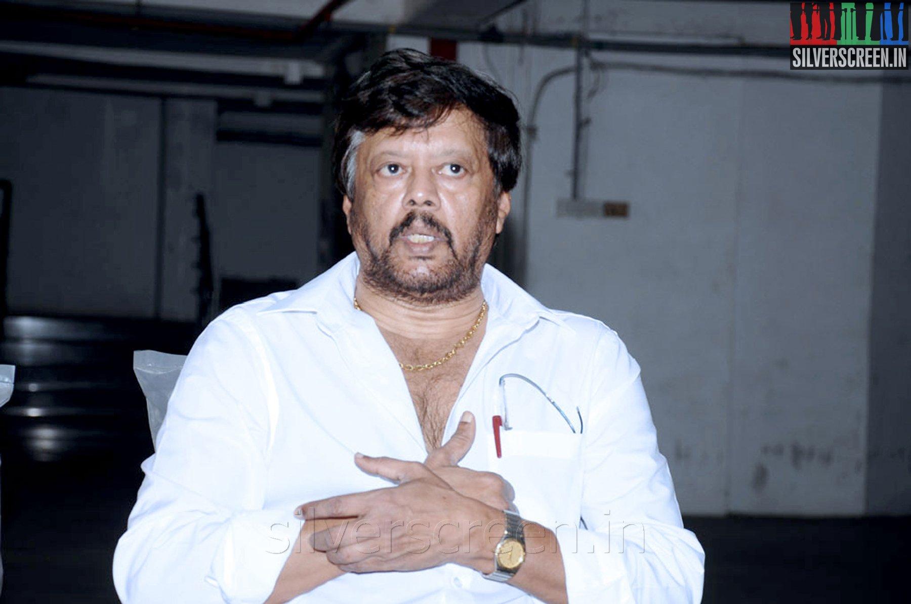 Actor Thiagarajan (or Thyagarajan) at his Press Meet