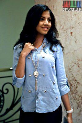 Actress Anaswara Kumar at the Yaamirukka Bayamey Success Meet