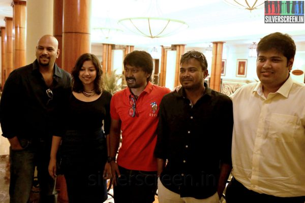 Actor Kreshna Lyricist Srikanth Varadhan Director Deekay at the Yaamirukka Bayamey Success Meet