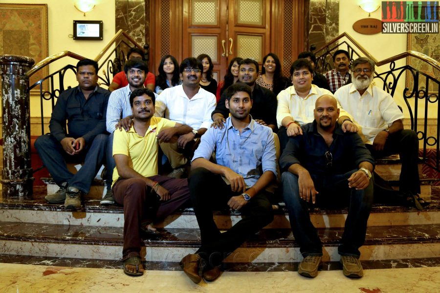Cast and Crew of the movie at the Yaamirukka Bayamey Success Meet
