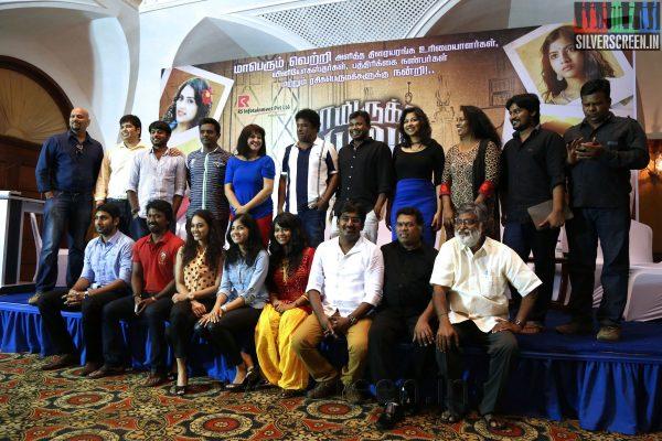 Cast and Crew of the movie at the Yaamirukka Bayamey Success Meet
