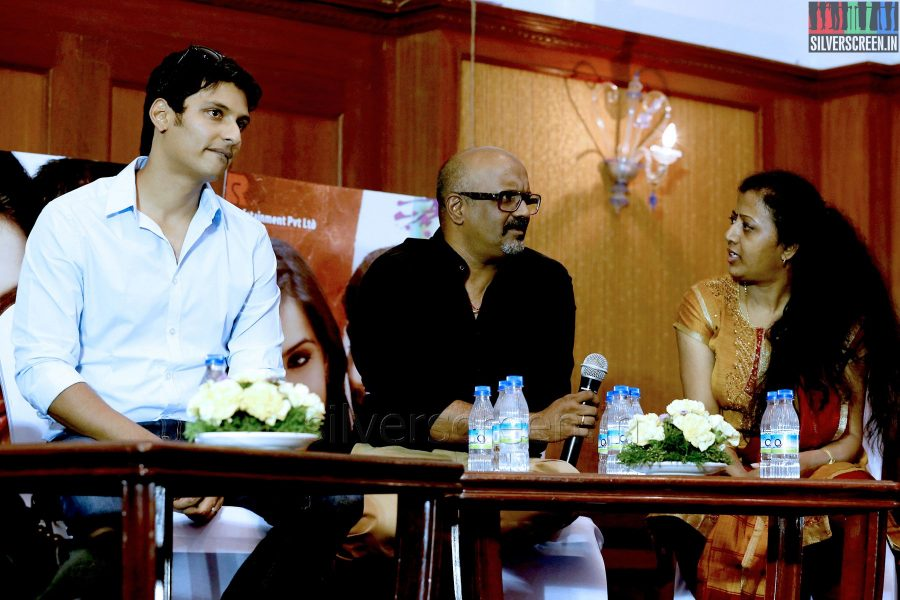 Actor Jiiva, Ravi K Chandran, Thamarai at the Yaan Press Meet
