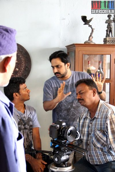 """Director RS Prasanna on the sets of """"The Quest"""" (Movie Stills)"""