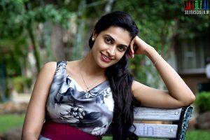 Actress Salony Luthra at the Sarabham Press Meet