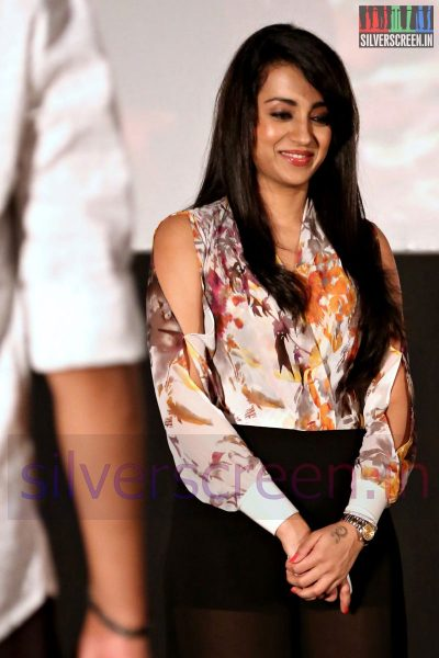 Actress Trisha Krishnan at the Amara Kaaviyam Audio Launch