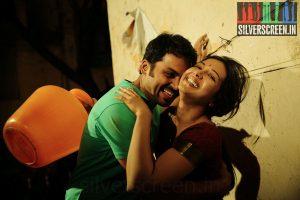 Actor Karthi and Catherine Tresa in Madras Movie Stills