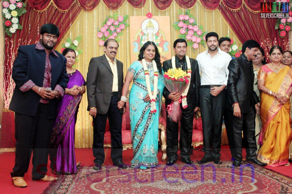 Actor Jayam Ravi At Producer V Swaminathan Sons Reception