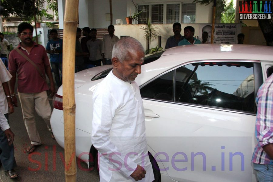 Music Director Ilaiyaraaja at Director Ramanarayanan's Funeral
