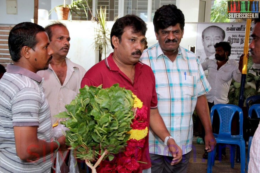 Director Perarasu at Director Ramanarayanan's Funeral