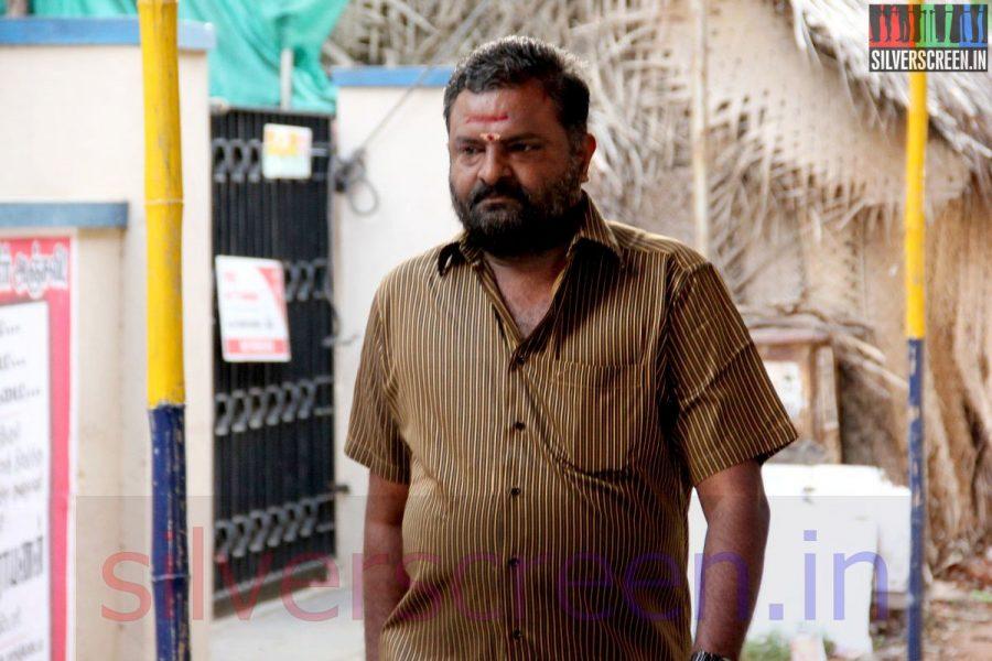 Producer PL Thenappan at Director Ramanarayanan's Funeral