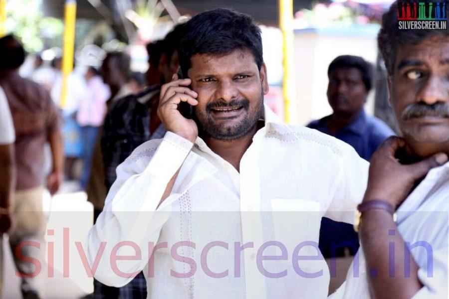 Actor Ganja Karuppui at Director Ramanarayanan's Funeral