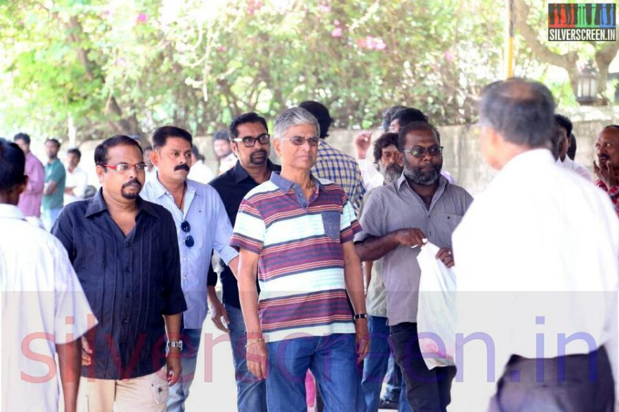 Director SA Chandrasekhar at Director Ramanarayanan's Funeral