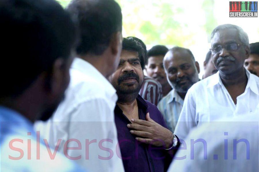 Actor T Rajendari at Director Ramanarayanan's Funeral