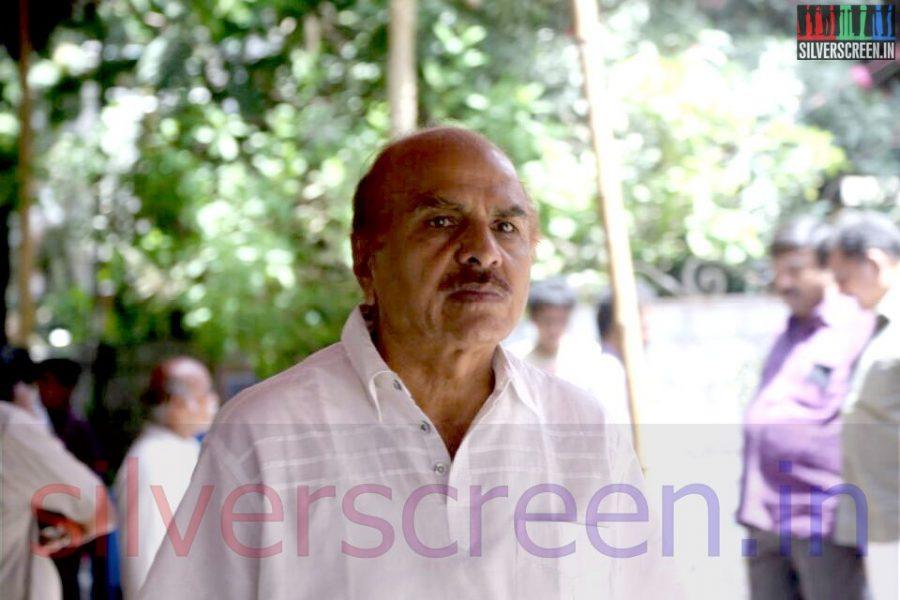 Producer RB Choudary at Director Ramanarayanan's Funeral